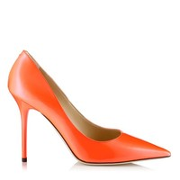 Neon Flame Patent Pointy Toe Pumps   Abel   Spring Summer 2014   JIMMY CHOO Pumps