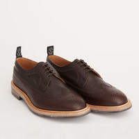 Tricker's Limited Edition Leather Brogue Shoe in Cafe Brown
