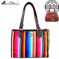 MW351G-9220 Montana West Serape Concealed Carry Handbag
