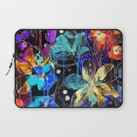 Lost in Botanica II Laptop Sleeve by Holly Sharpe