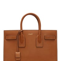 Saint Laurent Cognac Leather Sac Du Jour Small Tote Bag