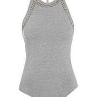 Studded Embellished Body - Tops - Clothing