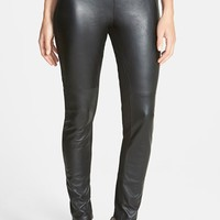 Women's Eileen Fisher The Fisher Project Leather Trimmed