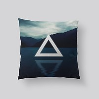 Throw Pillows for Couches / Triangle Lake by Leftfield_Corn