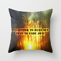 Sunset and the frost  Throw Pillow by Armine Nersisyan | Society6