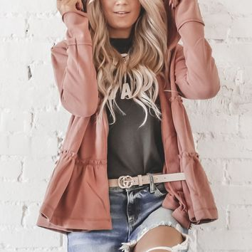 Caught In The Moment Sienna Tiered Zip Up Jacket