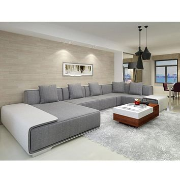 Stylish Living Room Customized Sectional Fabric  Sofa