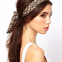 ASOS Leopard Scarf Hair Band at asos.com