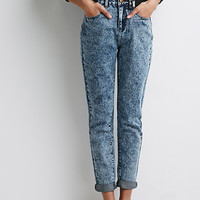 Acid Wash Mom-Fit Jeans