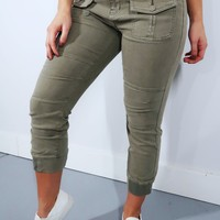 Hanging Out Pants: Dusty Olive