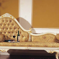 2015 French romantic classic furniture hand-carved wood bedroom Continental gorgeous chaise recliner sofa recliner