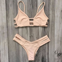 Vintage Style Swimsuits Bikini Set + Free Gift Summer Necklace