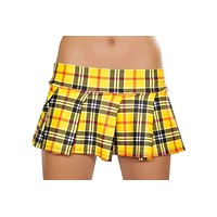 Roma Costume 1303LP Pleated School Girl Skirt (Yellow Plaid)