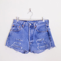 Levis Short Levis Jean Short Levis 501 Button Fly Levi 501 Levi's 501 Cut Off Short Cutoff Short Denim Short 80s 90s Grunge 29 M Medium