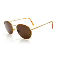 Fendi Vintage Round Speckled Sunglasses, Gold