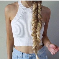Summer fashion sexy knit tops
