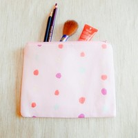 Make Up Bag/ Pencil Case/ Pink Pouch/ Gift for Her/ Birthday Gift/ Gift for Mom/ Sister Gift/ Best Friend Gift/ Cosmetic Bag/ Wife Gift