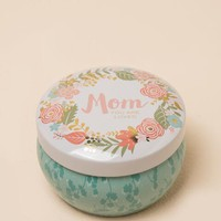 Mom You are Loved Floral Tin Candle