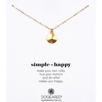 14K Gold Plated Sterling Silver Simple Happy Disc Necklace
