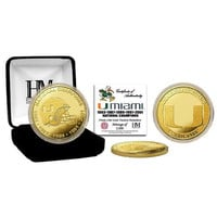 University of Miami 5-Time National Champs Gold Coin