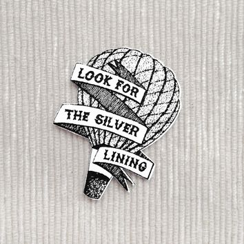 Look for the Silver Lining brooch
