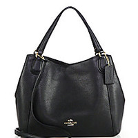 COACH - Edie Pebbled Leather Shoulder Bag - Saks Fifth Avenue Mobile