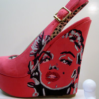 CUSTOM MARILYN MONROE Beautiful Wedge Heels All by KUSTOMKICKZ