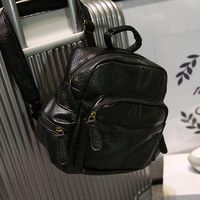 Mini Mini Small Leather Soft Backpack