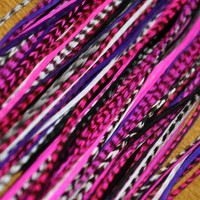 """7""""-12"""" Hot Pink Momma Feather Extension-7 Feathers"""