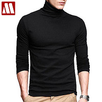 New Men fashion t shirt tees Slim Tops Male stretch t-shirt turtleneck long sleeve Tee Shirts High collar Men's cotton Tees