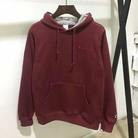 Champion Fashion Sport Hoodie Drawstring Top Sweater Sweatshirt(4-Color) Red I-YQ-ZLHJ