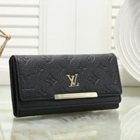 Louis Vuitton Women Fashion Leather Purse Wallet
