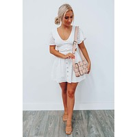 RESTOCK: Answer The Call Dress: White