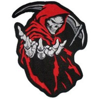 Grim Reaper (Red) Back Patch 26 Cm X 35 Cm - Patches | RebelsMarket