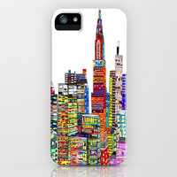 abstract living .new york city  iPhone Case by bri.buckley