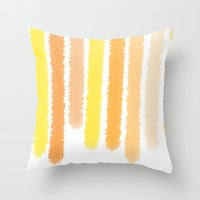 Orange Stripes - Pillow Cover - Cover Only - Shades of Orange and Yellow