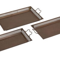 Well Designed Border Attractive Metal Tray