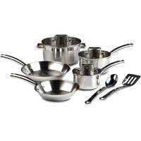 10 Piece Stainless Steel Cookware Set - Dishwasher Safe
