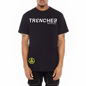 Trench Glitch T Shirt Black