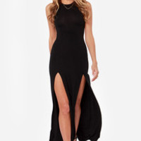 Stem Spells Black Racerback Maxi Dress