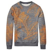 Orange Flair Stitch Grey Sweater by Scotch & Soda