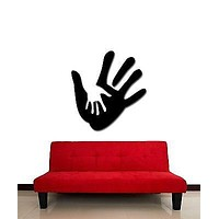 Wall Stickers Vinyl Decal Palms Father And Son Family Sign For Bedroom Unique Gift (z1742)