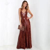 Head to Toe Sequins Gown