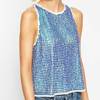 ASOS Vest with Holographic Sequin Embellishment at asos.com