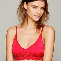 Free People Embroidered Eyelet Underwire Bra