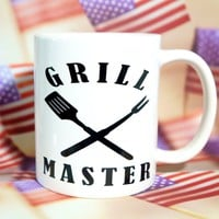 GRILL MASTER Coffee Mug / Gift For Dad / Dad Gift Ideas / Dad's Coffee Mug / Coffee Mugs For Dad / Grill Master Gifts