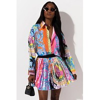 MINA Women's Colorful Graphic 2 Piece Set