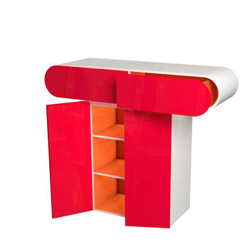 Lacquered wooden storage unit T Storage units Collection by Pierre Cardin - Forme   design Studio Pierre Cardin