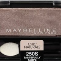 Maybelline New York Expert Wear Eyeshadow Singles, Chic Naturals 250s Tastefully Taupe, 0.09 Ounce