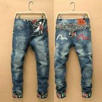 Winter Slim Fashion Men Pants Men's Fashion Plus Size Casual Jeans [6528464579]
